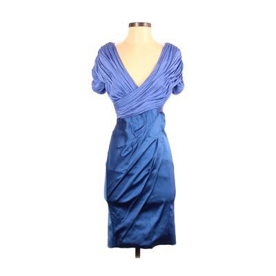 Karen Millen Cocktail Dress - Sheath: Blue Solid Dresses - Used - Size 4