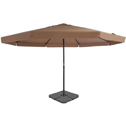 Sonnenschirm mit Schirmständer Taupe - Youthup