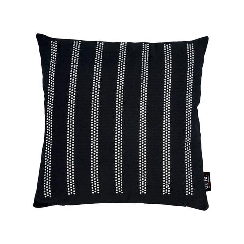 Done »Stripes« Kissen Strasssteine silber