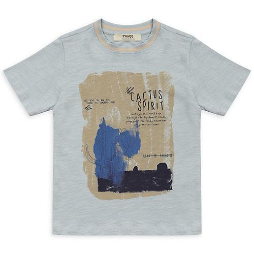 T-Shirt - mit Kakteendruck - blau Jungen Kinder