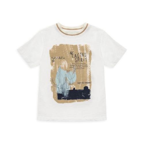 T-Shirt - mit Kakteendruck - weiß Jungen Kinder