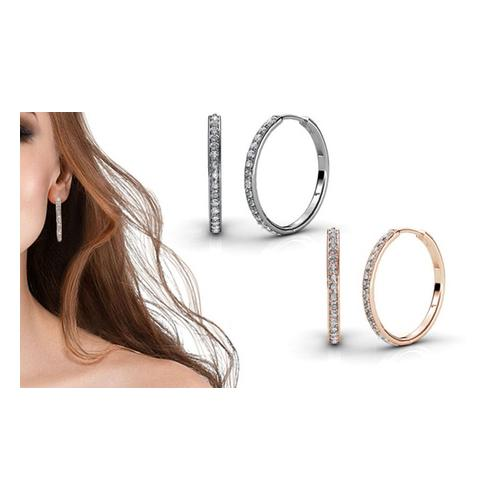 Ohrringe mit Swarovski®-Kristallen: Gold/2