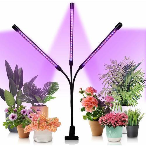 Hengda 30W Pflanzenlampe LED, Dimmbar Pflanzenlicht mit Timer, Pflanzenleuchte mit Rot Blau Licht
