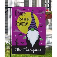 GiftsForYouNow Garden Flags - 'Home Sweet Gnome' Personalized Name Garden Flag