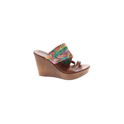 Italian Shoemakers Footwear - Italian Shoemakers Footwear Wedges: Brown Tropical Shoes - Size 37