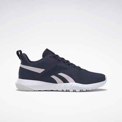 Reebok Women's Flexagon Force 3 Wide D Training Shoes in Vector Navy/Frost Berry/Cold Grey Size 9.5 - Training Shoes