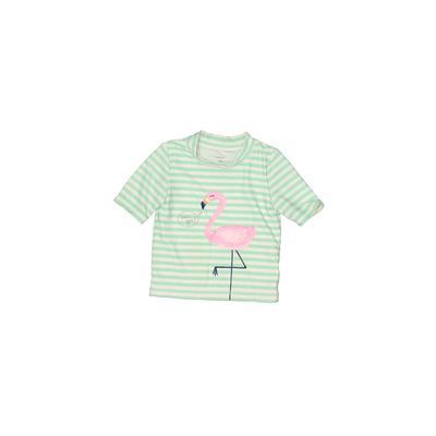 Carter's Rash Guard: Green Print Sporting & Activewear - Size 4Toddler
