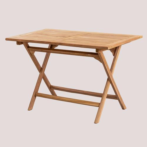 SKLUM Rechteckiger Gartentisch aus Teakholz (120x70 cm) Pira Teakholz - Teakholz