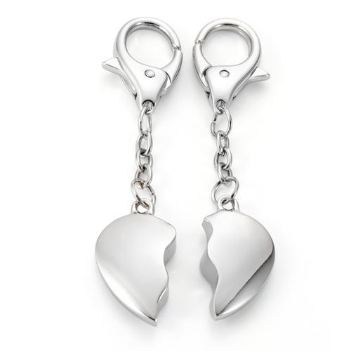 Schlüsselanhänger Metall Herz 11 cm