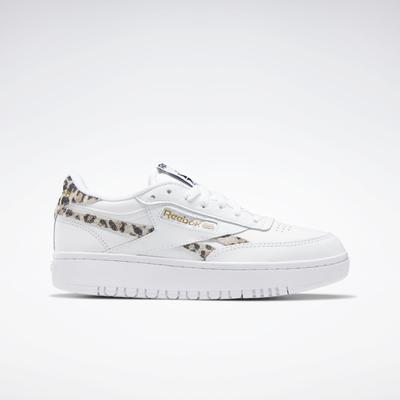 Reebok Women's Club C Double Shoes in Ftwr White/Core Black/Ftwr White Size 8 - Lifestyle Shoes