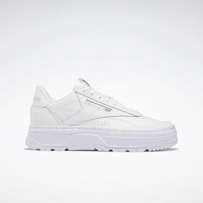Reebok Women's Club C Double GEO Shoes in Ftwr White/Ftwr White/Pure Grey 4 Size 10 - Lifestyle Shoes
