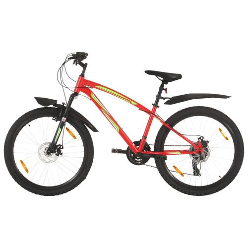 vidaXL Mountainbike 21 Gang 26 Zoll Rad 36 cm Rot