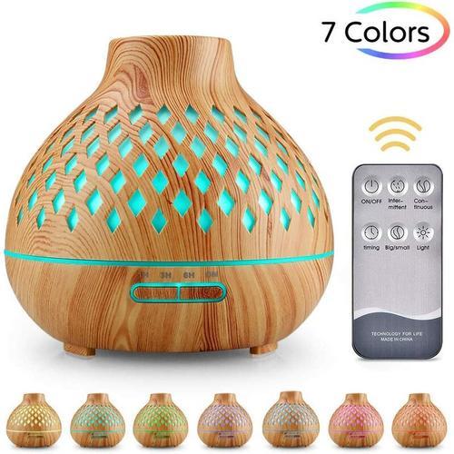 Ätherisches Öl Diffusor, 400ml Ultraschall-Luftbefeuchter Aromatherapie Diffusor mit 7 Farben