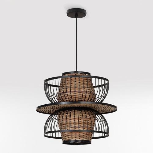 Lampe Flekt Rattan – Stahl Natürlich - Natürlich - Sklum