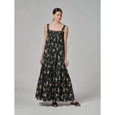 Braces Fancy Dress - Black - Vivetta Dresses