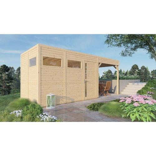 Alpholz - Garten- und Gerätehaus Design Cube Lounge , Naturbelassen