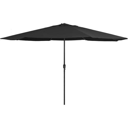Sonnenschirm mit Metall-Mast 400 cm Schwarz