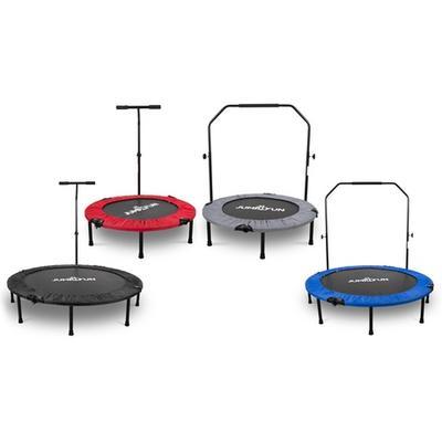 Mini-trampoline de fitness pliable : Double barre / 92 cm / Bleu