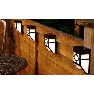 Lot de 2 lampes solaires pour clôture : x4