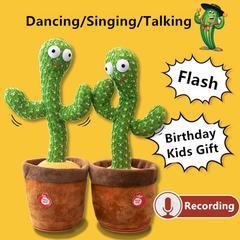 Peluche Cactus électrique en pot, 1/2/5/7 pièces, jouet amusant, perroquet parlant, enregistrement,