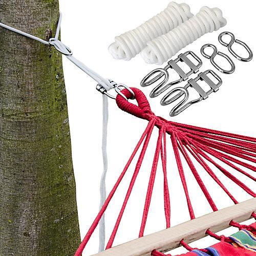 6m Hängematten Befestigung bis 160kg - Baum Befestigungsset braun