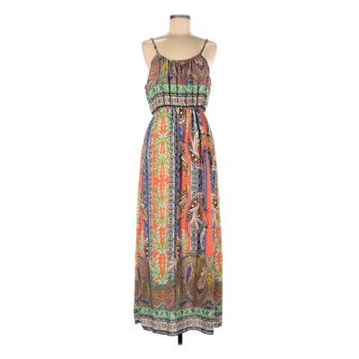 Casual Dress - Maxi: Purple Paisley Dresses - Used - Size Medium