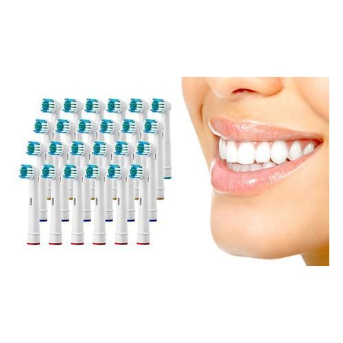 Zahnbürstenköpfe kompatibel mit elektrischen Zahnbürsten von Oral B: 24er-Pack