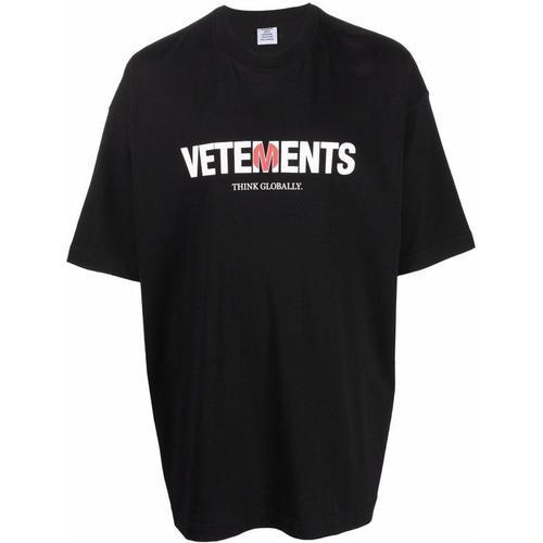 Vetements T-Shirt mit japanischer Flagge