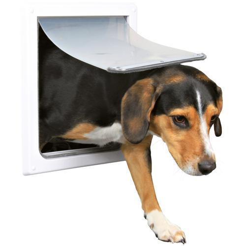 TRIXIE Haustierklappe S-M, für Hunde, BxH: 30x36 cm weiß Trixie