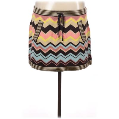 Missoni For Target Casual Skirt: Yellow Print Bottoms - Size Large