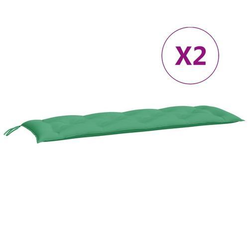 vidaXL Auflage für Hollywoodschaukel Grün 150 cm Stoff