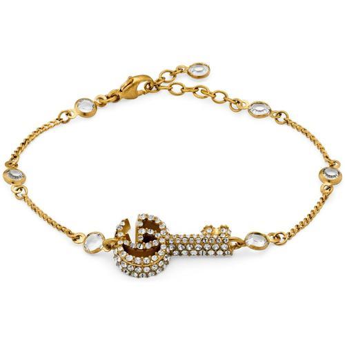 Gucci Doppel G Schlüssel Armband mit Kristallbesatz