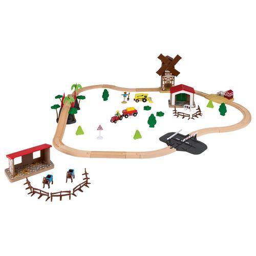 PLAYTIVE® Holzeisenbahnset (Countryside)