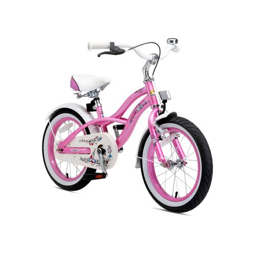 Bikestar Kinderfahrrad (16 Zoll, Pink, Cruiser)
