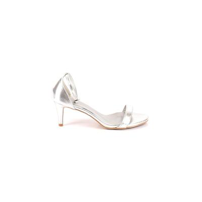 Room of Fashion - Room of Fashion Heels: Silver Solid Shoes - Size 8 1/2