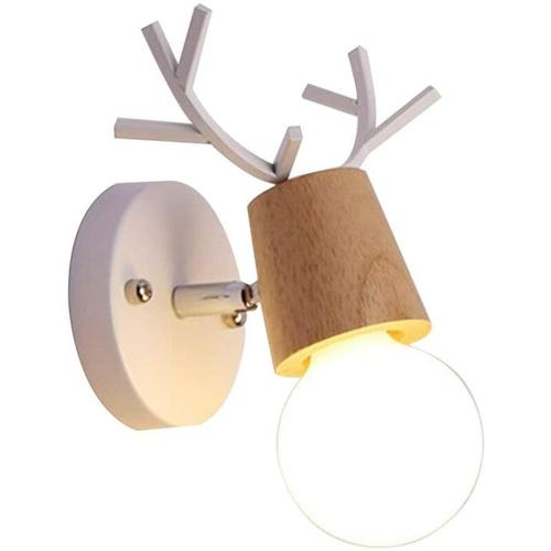Bearsu - Loft Vintage Wandleuchte Rustikale Holz Wandleuchte Retro Metall Kerzenhalter Typ