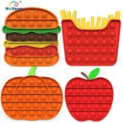 Kit de jouets sensoriels pour enfants, anti-stress, pour adultes, Kawaii, Hamburger, ananas ite,