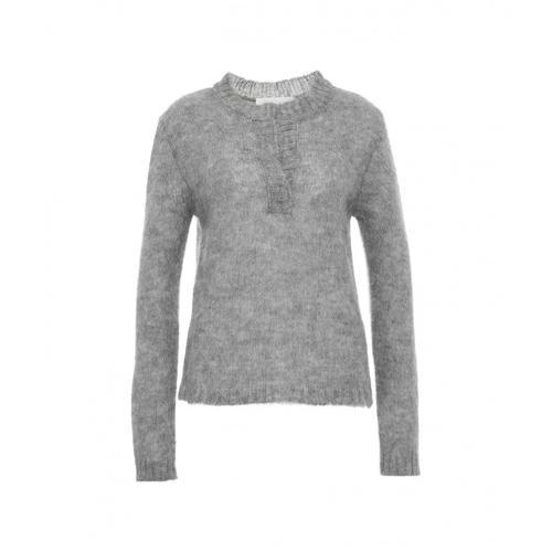 8Pm Damen Pullover Ofelia in Mohair Grau