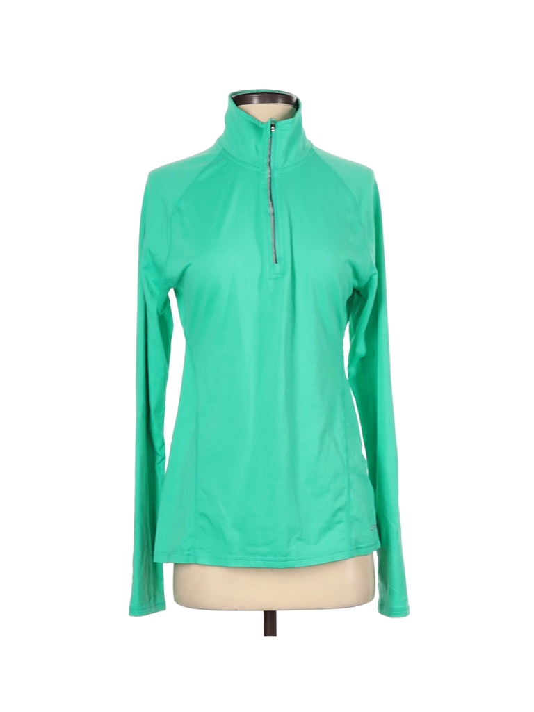 C9 By Champion Track Jacket: Green Color Block Jackets & Outerwear - Size Small
