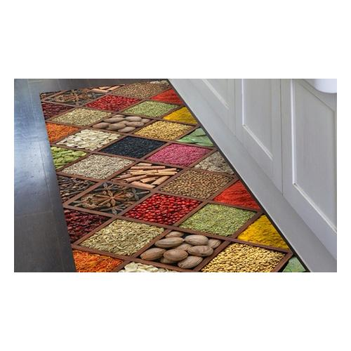 Kitchen runner carpet PVC Mes. 52 x 80 cm - Style Macarons