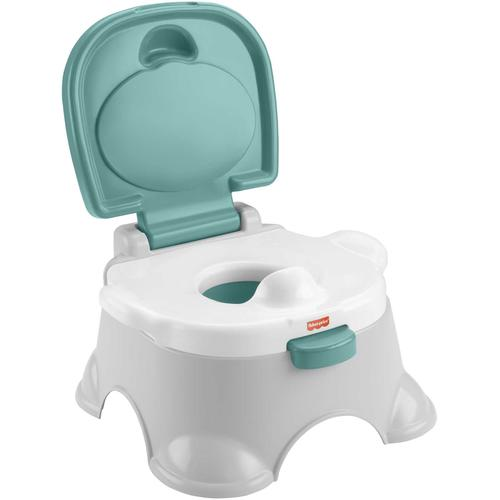 Fisher-Price Töpfchen 3in1, mit Trainingstoilettenring und Fußbank grau Baby Fisher Price
