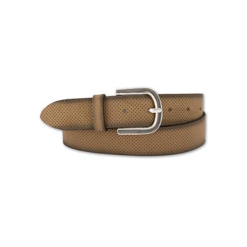 BERND GÖTZ Ledergürtel, mit samtigem Touch und fein ziselierter Schließe braun Damen Ledergürtel Gürtel Accessoires