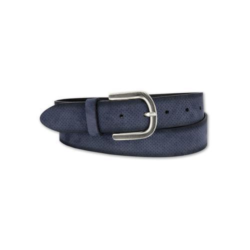 BERND GÖTZ Ledergürtel, mit samtigem Touch und fein ziselierter Schließe blau Damen Ledergürtel Gürtel Accessoires