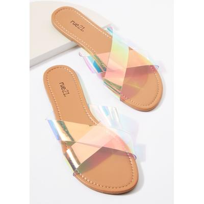 Rue21 Womens Clear X Band Sandals - Size 7