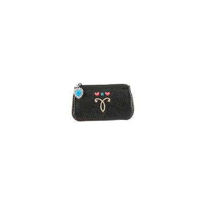 Brighton Leather Coin Purse: Black Solid Bags