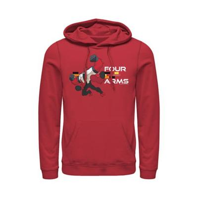 Cartoon Network Red Ben 10 Four Arms Graphic Hoodie