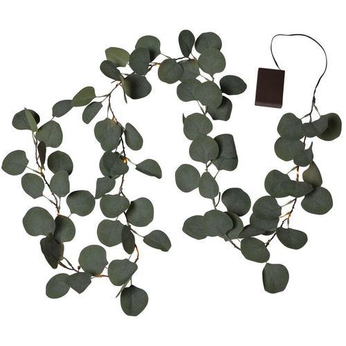 LED Eucalyptus in Grün 20-flammig