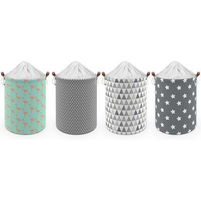 Drawstring Laundry Basket: Flamingo