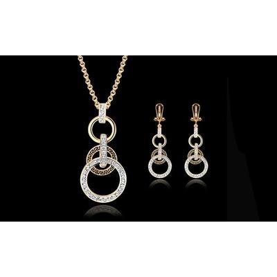 Parure de bijoux avec pendentif et boucles d oreilles ornée de cristaux Swarovski® de BTIME
