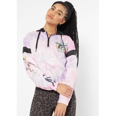 Rue21 Womens Pink Tie Dye Color Block Looney Tunes Hoodie - Size Xl